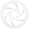 Formula C1 Tarcza hamulców tarczowych  jednoczęściowy 6-otwory srebrny